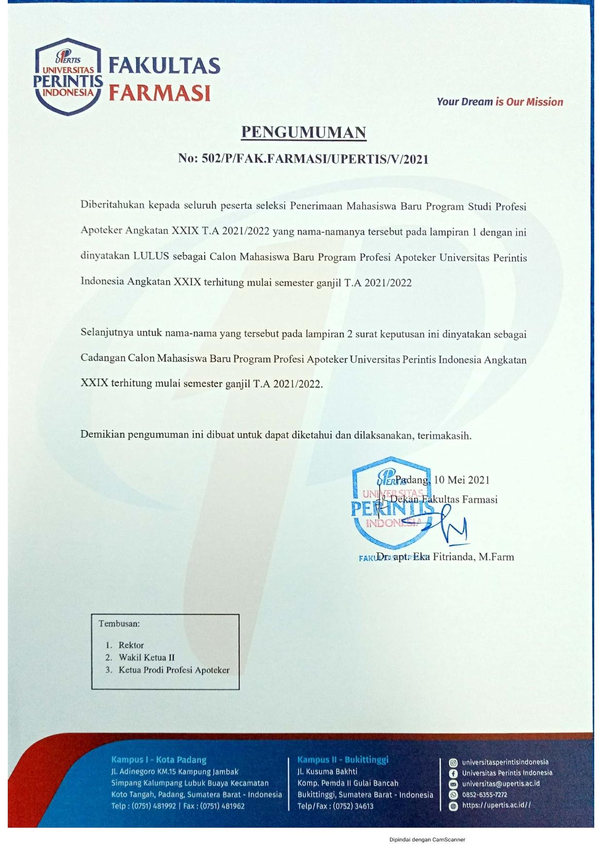 Hasil Seleksi PMB Apoteker 29_001